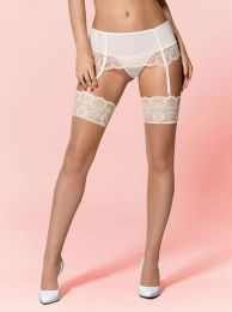 Obsessive 874-STO-4 stockings cream