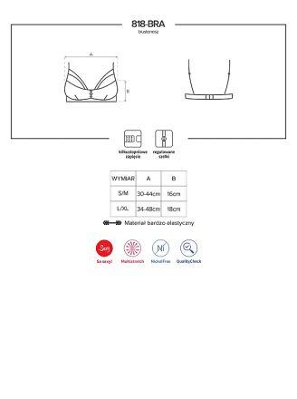 Obsessive 818-BRA-1 bra black