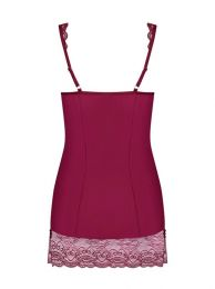 Obsessive Miamor chemise and thong ruby