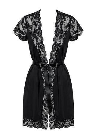 Obsessive 810-PEI peignoir black