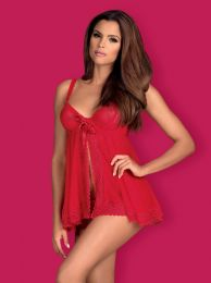 Obsessive Rougebelle babydoll & thong red