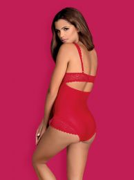 Obsessive Rougebelle crotchless teddy red
