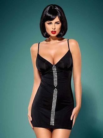 Obsessive Gretia dress and thong black