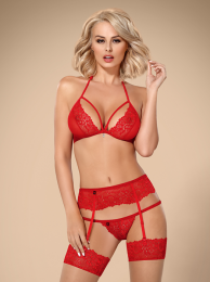 Obsessive 838-SEG set 3 pcs red