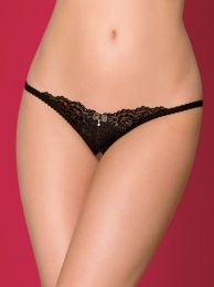 Obsessive 852-THC-1 crotchless thong black