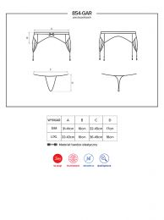 Obsessive 854-GAR-1 garter belt and thong black