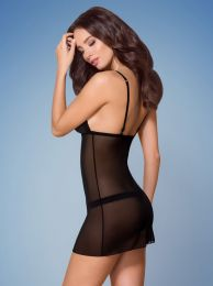 Obsessive 865-CHE-1 chemise and thong black