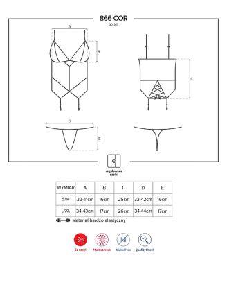 Obsessive 866-COR-1 corset and thong black