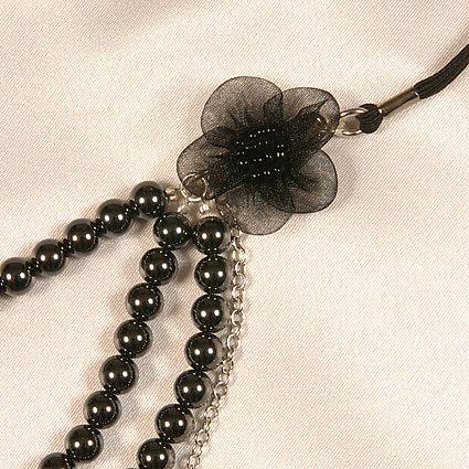 String Scandale Argent Perles Hematites