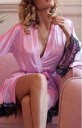 Satin Robe Pink