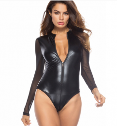 Sexy Leather Teddy