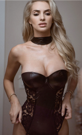 Sexy Leather Teddy Black