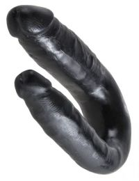 King Cock U-Shaped Small Double Trouble Black