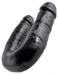 King Cock U-Shaped Medium Double Trouble Black