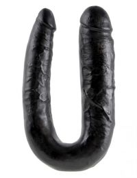 King Cock U-Shaped Large Double Trouble Black