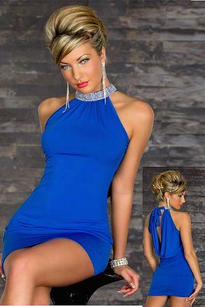 Sexy Stretchy Clubwear Blue